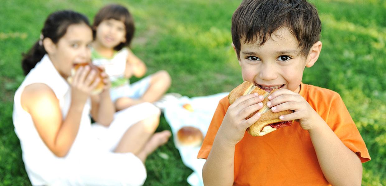 Children having a picnic